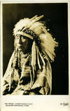 Chief Eagle Calf Real-Photo Postcard from Glacier National Park