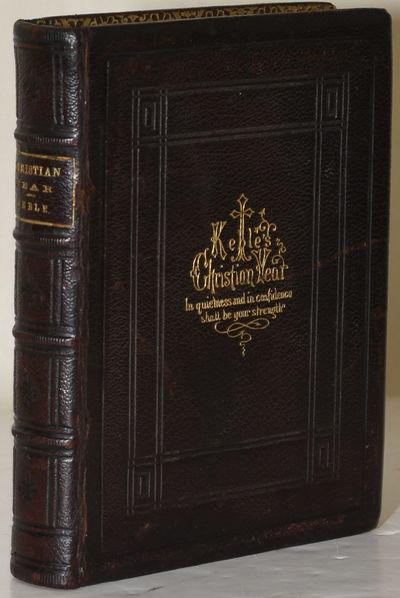 Philadelphia: Porter & Coates. Full Leather. Very Good binding. Keble's verse for Christian holy day...