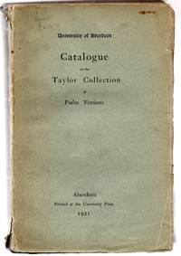 Catalogue of the Taylor Collection of Psalm Versions