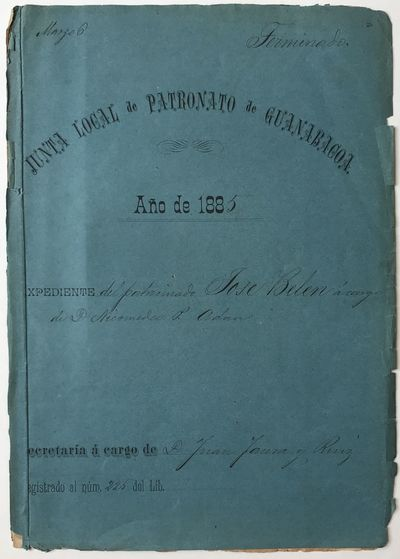 pp. Stitched, with printing cover form completed in manuscript. Moderate chipping at edges. Tanned, ...