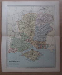 MAP OF HAMPSHIRE - 1894
