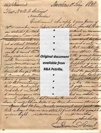 "HANDWRITTEN LETTER (ALS) TO N. & W.W. BILLINGS, NEW LONDON [CT], REGARDING SPERM OIL CANDLES.  DATELINED: SHIP ""RUSSELL"", NEW ORLEANS, 1st FEBRUARY 1828"
