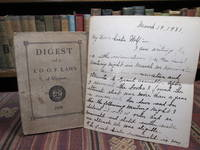 image of Digest of I. O. O. F. Laws of Virginia (Independent Order of Odd Fellows).  (With Member's 1931 Handwritten Letter)