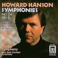 Howard Hanson Symphonies 3 & 6 by Howard Hanson (2001-07-27)
