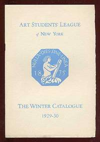 New York: Art Students' League of New York, 1929. Softcover. Fine. Stapled wrappers. 34pp. Fine.