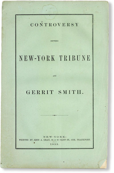 New-York: John A. Gray, 1855. First Edition. Paperback. Octavo (ca. 23cm.); publisher's green wrappe...