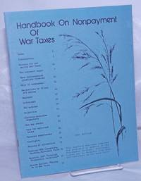 image of Handbook on nonpayment of war taxes: 1981 edition [Fifth edition]