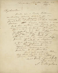 Holograph note signed and dated Tunbridge Wells Nov. 10, 1812, to poet and writer Robert Pearse Gillies