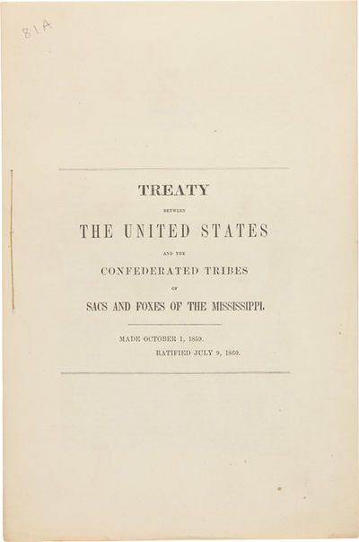 [Washington, 1860. 7pp. Folio, stitched as issued. Outer leaves lightly soiled, internally very clea...