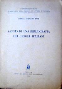 Saggio di una Bibliografia dei Gerghi Italiani