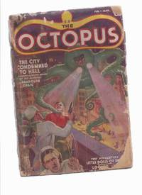 The Octopus, The City Condemned to Hell - Randolph Craig, Feb- Mar 1939, Volume 1 # 1 (Pulp) & Skull Killer - Curse of the Octopus Comic Adaptation -by Brendan Faulkner (signed)(inc Little Dolls of Death; Detour to the Grave; Locked in with Murder )
