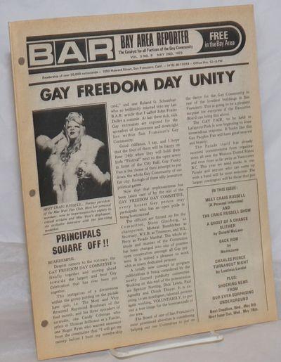 San Francisco: Benro Enterprises, 1973. Newspaper. 8.25x10.75 inches, articles, reviews, interviews,...