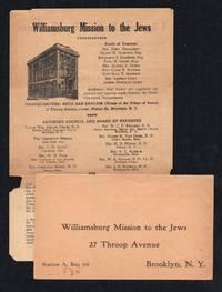 Williamsburg Mission to the Jews Circular & Donation Envelope