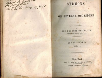 New York: Lane & Scott, 1850. Volume II only of a set of two. Very Good Minus, leather boards rubbed...