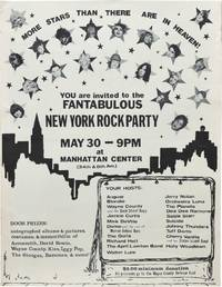 image of Fantabulous New York Rock Party, Manhattan Center in New York, May 30, 1976 (Original poster for the 1976 benefit concert)