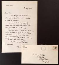 1 PG Handwritten Letter Signed