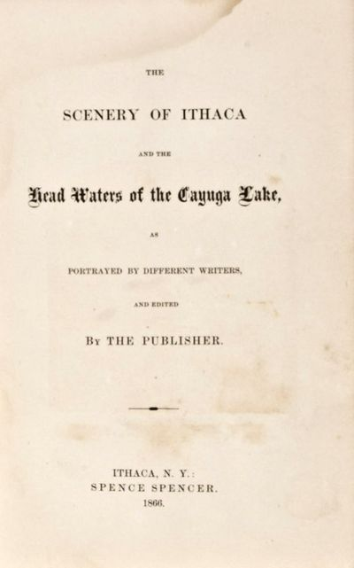 Ithaca, N.Y.: Spence Spencer, 1866. Hardcover. fair. 12mo. 150pp. Purple cloth with gilt lettering t...