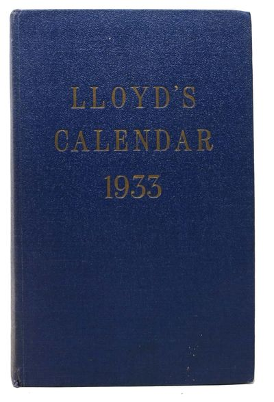 London: Lloyds, 1933. 1st edition. Blue cloth binding with gilt stamped title spine to front. VG+ (c...