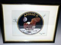 NASA Official 1969 Official Color Print Badge Signed By the Entire Crew of Apollo 11 for Gordon Bell,  U.S Consul to Australia,  November 1969