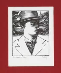 image of G. M. Hopkins at Thirty.  Signed Woodblock