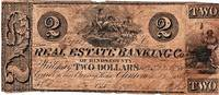 TWO-DOLLAR DEMAND NOTE ISSUED BY THE REAL ESTATE BANKING CO. OF HINDS COUNTY, MISSISSIPPI,  JANUARY 1, 1839