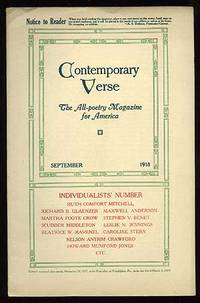 image of Contemporary Verse: September 1918