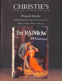 Sale 7998, 22 May 1998: Printed Books Incl. Modern First Editions and  Autograph Letters.