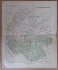 MAP OF HEREFORDSHIRE- 1894 by J.H.F. Brabner - Paperback - 1894 - from Winghale Books (SKU: 089489)