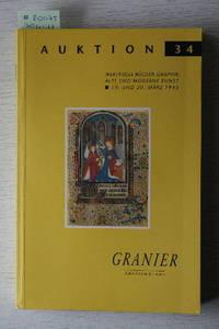 Auktion 34, 19-20 März 1993: Wertvolle Bücher, Graphik, Alte Und Moderne  Kunst.
