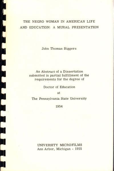 Ann Arbor: University Microfilms, 1955. Paperback. Very good. ca. 1990's reprint. pp numbered 245-24...