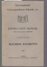 image of Machine Elements : Instruction Manual with Examination Questions : Book No. 162