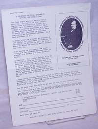 image of Just Published!  A Voluntary Political Government: Letters from Charles Lane [handbill]