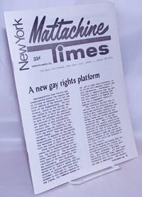 image of New York Mattachine Times: Feb/Mar 1972: new gay rights platform
