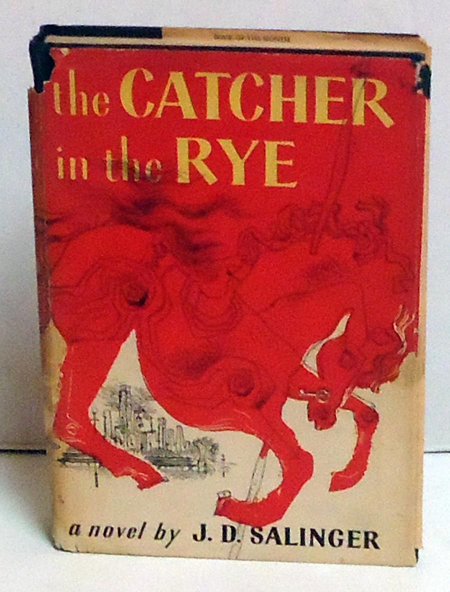 Catcher In The Rye Bomc 1st By J D Salinger Hardcover Book