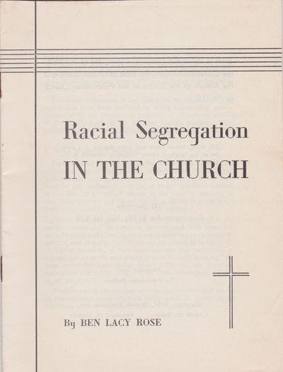 Racial Segregation in the Church