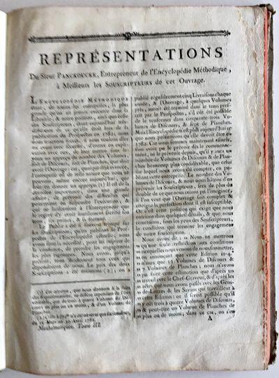 Encyclopedie Méthodique Prospectus.
