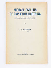 image of Michael Psellus: De Omnifaria Doctrina; Critical Text and Introduction