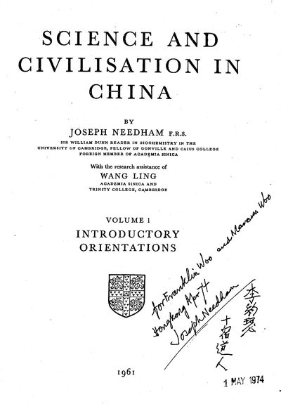 Science and Civilisation in China...