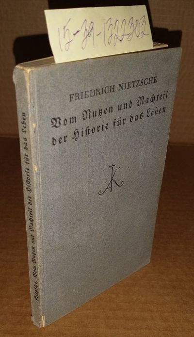 Leipzig: Alfred Kroner, 1924. Softcover. 16mo; pp 102; Good/paperback; gray with black text; covers ...
