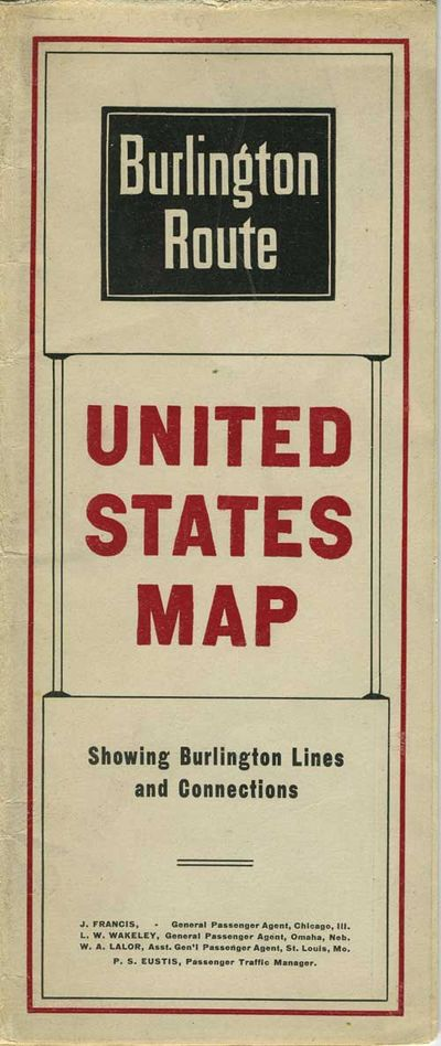 Abaa Burlington Route United States Map By Rand Mcnally Co - Us-map-1908