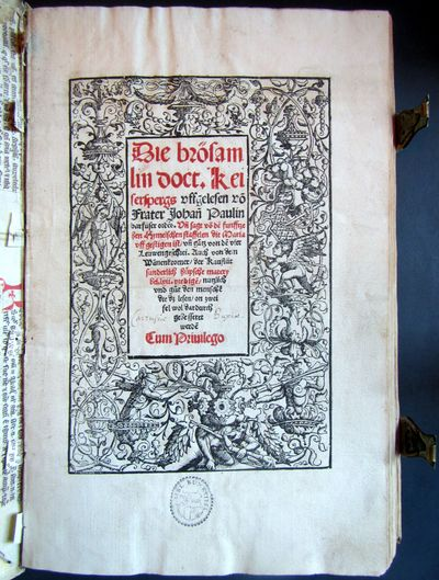 Strassburg: Johannes Grüninger, 1517. Folio (313 x 205 mm). 2 parts: 110 (recte 106); 92 leaves. Go...