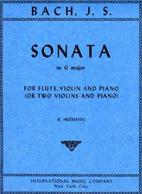 Sonata in G Major - for Flute, Violin (or Two Violins) and Piano [TWO PARTS and PIANO FULL SCORE]