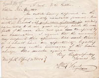 """AUTOGRAPH LETTER SIGNED by the RABID ANTI-CATHOLIC REVEREND WILLIAM K. HOYT to the editor of the Police Gazette regarding accusations of """"swindling""""."""