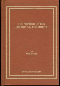 Setting of the Sermon on the Mount (Brown Judaic Studies)