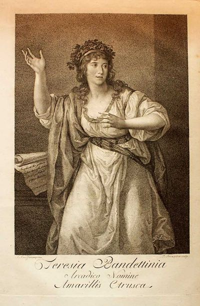 Parma: Luigi Mussi, 1805. First edition. Very Good/Teresa Bandettini (1763-1837) filled theaters all...