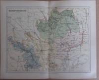 MAP OF HERTFORDSHIRE - 1894