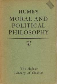 image of Hume's Moral Political Philosophy (Hafner Library of Classics #3)