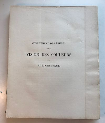 Complement des Etudes sur la Vision...