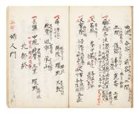 "Manuscript on paper, entitled on first leaf ""Shinkyu goun sanjutsu sho""  (""Five Aspects and Three Techniques of Acupuncture and Moxibustion"")"