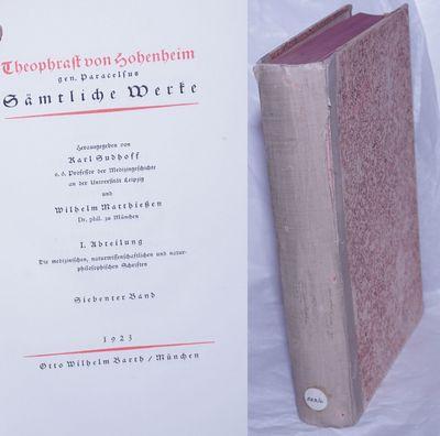 Munich: Otto Wilhelm Barth, 1923. Volume Seven (7) only of a multi-volume compendium, presswork in b...